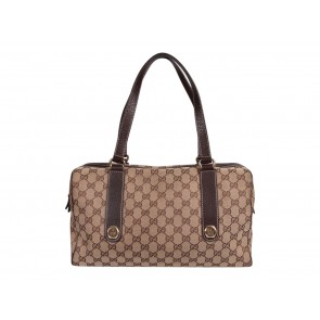Gucci Brown Monogram Canvas Tote Bag
