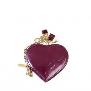 Louis Vuitton Purple Monogram Vernis Heart Coin Purse