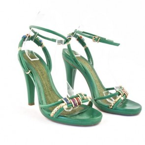Marc Jacobs Green Strappy Sandals