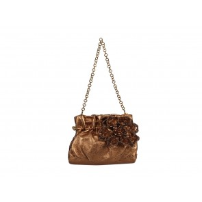 Salvatore Ferragamo Gold Mini Kiss-Lock Shoulder Bag