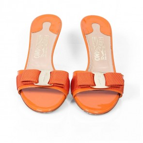 Salvatore Ferragamo Orange Sandals