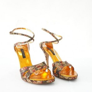 Sergio Rossi Multicolor Gold Sandals