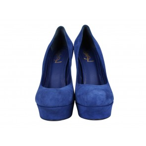 Yves Saint Laurent Blue Heels