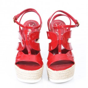 Yves Saint Laurent Red Wedges