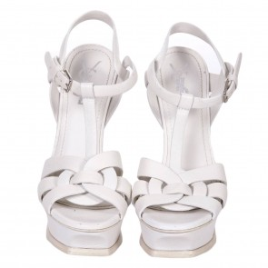 Yves Saint Laurent White Sandals