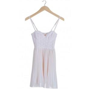 Peach Lace Mini Dress
