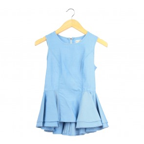 (X)SML Blue Peplum Sleeveless