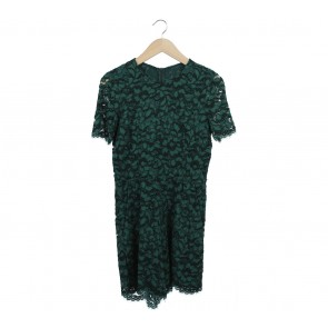 Dark Green Lace Jumpsuit