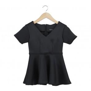Iconette Closet Black Peplum Blouse