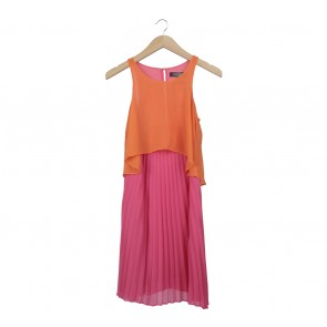 Limited Orange And Pink Mini Dress