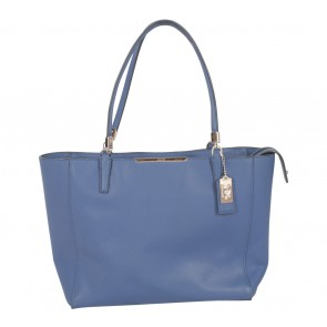 Coach Blue Madison Saffiano East West Tote Bag