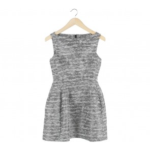 Zara Black And Cream Sleeveless Mini Dress