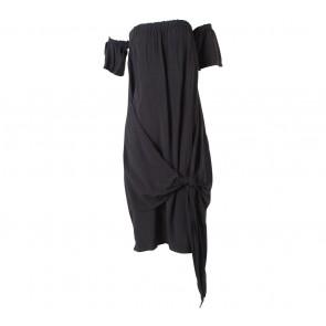 Agree to Shop Black Bardot Tied Mini Dress