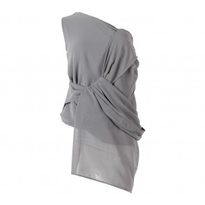 ATS The Label Grey One Shoulders Sleeveless