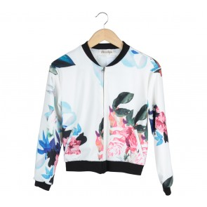 Chocochips White Floral Jaket