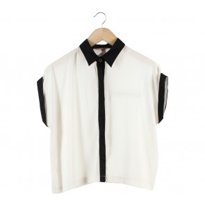 Kivee Off White And Black Shirt