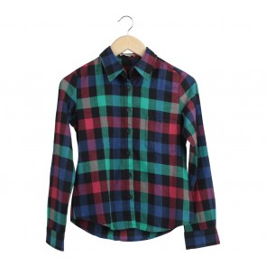 Forever 21 Multi Colour Plaid Shirt