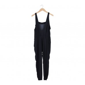 Zara Black Back Low Cut Jumpsuit