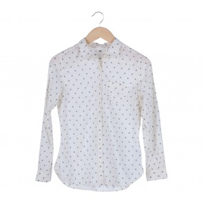 UNIQLO White Polkadot Shirt