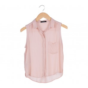 Mango Peach Sleeveless Blouse