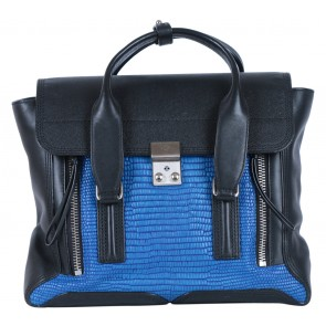 3.1 Phillip Lim Blue and Black Pashli Leather Handbag