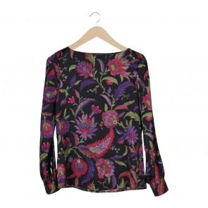 Ralph Lauren Black Floral Blouse