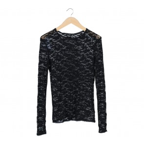 Zara Black Lace Blouse