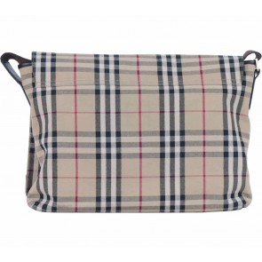 Burberry Cream Plaid Canvas Sling Bag