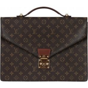 Louis Vuitton Brown Monogram Satchel