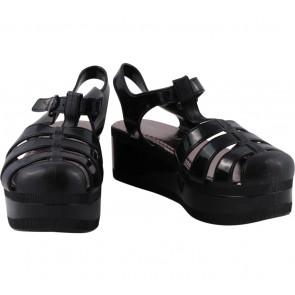 Pandora Black Platform Sandals