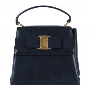 Salvatore Ferragamo Blue Clutch