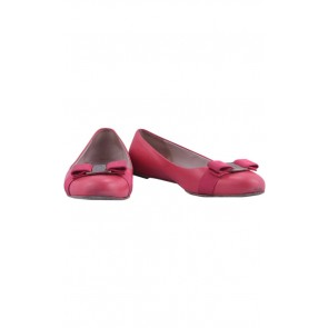 Salvatore Ferragamo Red Varina Flat Shoes