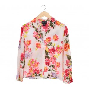 Spenser Jeremy White Floral Shirt