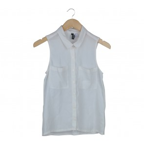 Divided Off White Sleeveless