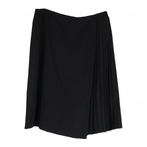 Topshop Black Pleated Wrap Skirt