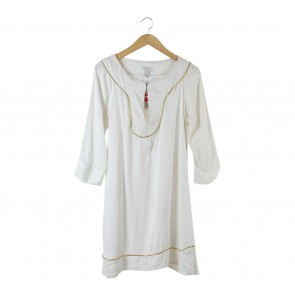 Mango White Tunic Blouse