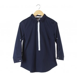 Zara Dark Blue And White Shirt