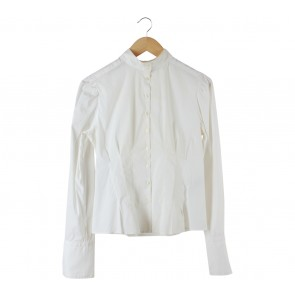 Zara Off White Pleated Shirt