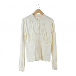 Zara Off White Victorian Blouse