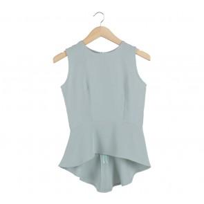 Agree to Shop Turquoise Peplum Sleeveless