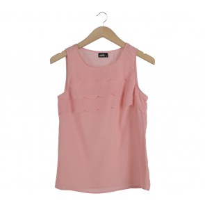 Dotti Pink Scallop Sleeveless