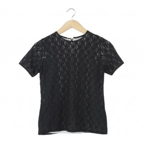Shop At Velvet Black Lace Blouse