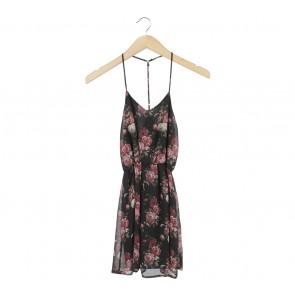 Tobi Black Floral Sleeveless Mini Dress