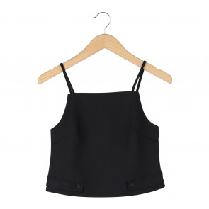 MDS Black Cropped Sleeveless