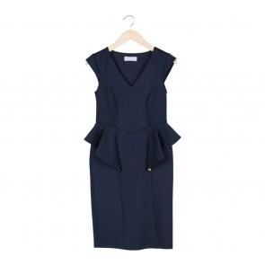 Dorothy Perkins Blue Peplum Mini Dress