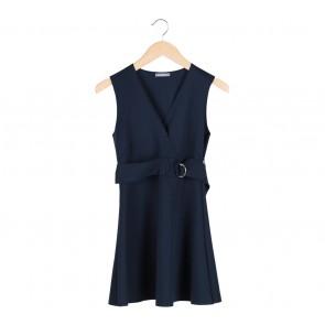 Zara Blue V-Neck Mini Dress