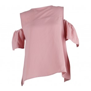 Cotton Ink Pink off shoulder Blouse