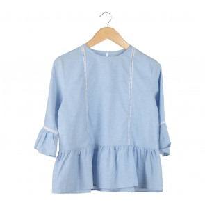 Cotton Ink Blue Blouse
