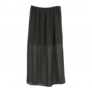 Forever 21 Dark Green Slit Skirt