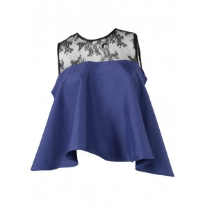 N.Y.L.A Blue And Black Combi Lace Sleeveless